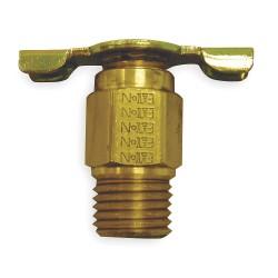 Anderson Metals - 130 - MNPT Drain Cock, 150 psi, 1-5/32H x 1/8 Pipe Size