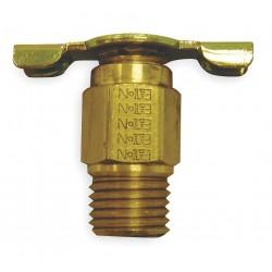 Anderson Metals - 140 - MNPT Drain Cock, 150 psi, 1-5/16H x 1/4 Pipe Size