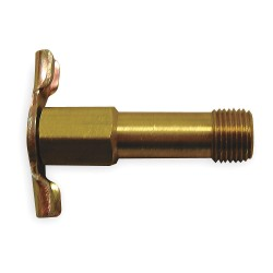 Anderson Metals - 185 - MNPT Drain Cock, 150 psi, 1-3/4H x 1/8 Pipe Size