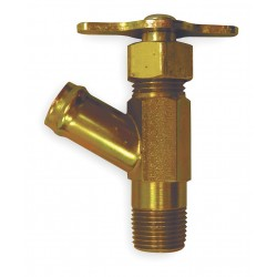 Anderson Metals - 211273A - MNPT x Hose Drain Cock, 150 psi, 2-7/8H x 3/8 Pipe Size