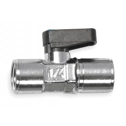 Alpha Fittings - 86300-06-06 - Nickel-Plated Brass FNPT x FNPT Mini Ball Valve, Wedge, 3/8 Pipe Size