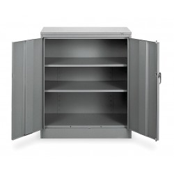 Tennsco - 1442 GRAY - Storage Cabinet, Medium Gray, 42 Overall Height, Unassembled