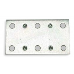 Other - 1WDJ2 - 2-1/2 x 1-2/5 Steel Mending Plate with Zinc Finish
