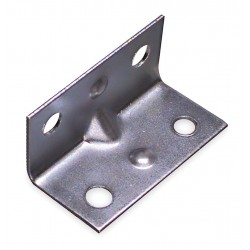 Other - 1WDJ4 - 1-1/2 x 3/4 Steel Corner Brace with Zinc Finish