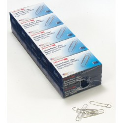 OfficeMate - 99911 - OIC Paper Clips - No. 1 - 1000 / Pack - Silver - Steel