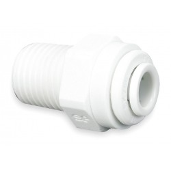 John Guest - CI010823W-PK10 - 1/4 x 3/8 Male Connector, Acetal Copolymer, Tube x MNPT Connection Type