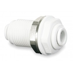John Guest - CI1208W-PK10 - Acetal Copolymer Bulkhead Union, 1/4 Tube Size