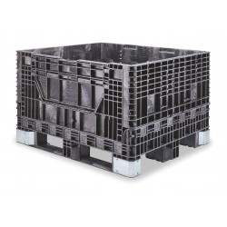 Buckhorn / Myers Industries - BH4840342010000 - Collapsible Bulk Container, Black, 34H x 48L x 40W, 1EA