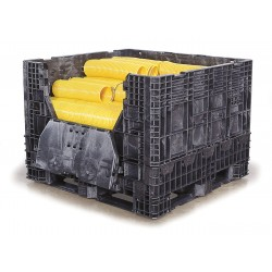 Buckhorn / Myers Industries - BH4845342010000 - Collapsible Bulk Container, Black, 34H x 48L x 45W, 1EA