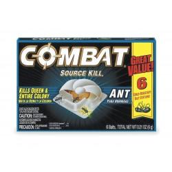 Dial - DIA 45901 - Combat Ant Killing System, Child-Resistant, Kills Queen & Colony, 6/Box