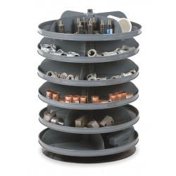 Durham - 1106-95 - 25-3/8 Steel Revolving Storage Bin with 60 lb. Load Cap. per Shelf, Gray