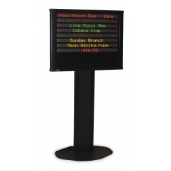 "Adaptive Micro Systems - 10221411 - 35"" x 3"" x 27-1/2"" Aluminum Electronic Message Sign"