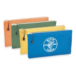 "Klein Tools - 5140 - Klein Tools Zipper Bags-Canvas, 4-Pack - 12.50"" Width x 7"" Length - Royal Blue, Orange, Yellow, Olive - Canvas - 4/Pack - Tool"