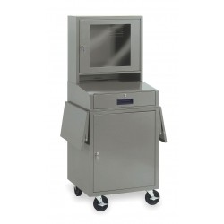 Other - 1YCB1 - 24-1/2 x 22-1/2 x 62-3/4 Steel Mobile Computer Cabinet, Light Gray