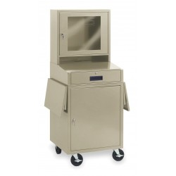 Other - 1YCB3 - 24-1/2 x 22-1/2 x 62-3/4 Steel Mobile Computer Cabinet, Putty