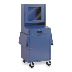 Other - 1YCB4 - 24-1/2 x 22-1/2 x 62-3/4 Steel Mobile Computer Cabinet, Blue
