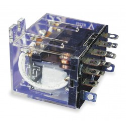 Omron - MY4F-AC110/120 - 120VAC, 14-Pin Flange Mount Relay; Flange Location: Top, AC Contact Rating: 3A @ 240V