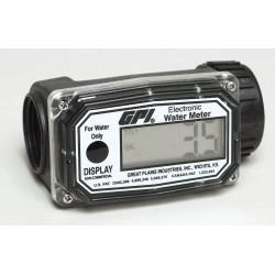 GPI - 113255-4 - Turbine 1 FNPT Electronic Flowmeter, Nylon, 3 to 30 gpm