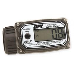 GPI - 113255-5 - Turbine 1 FNPT Electronic Flowmeter, Nylon, 10 to 100 lpm
