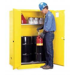 Justrite - 899060 - (2) 30 gal. Hazardous Waste and Drum Storage Cabinet, 65 x 43 x 34, Manual Door Type