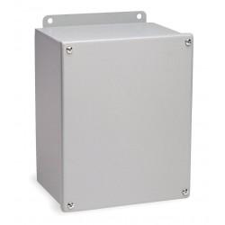 Hubbell - B040404SC - Hubbell-Wiegmann B040404SC Junction Box, JIC Series, Wall-Mount, NEMA 12, Screw Cover