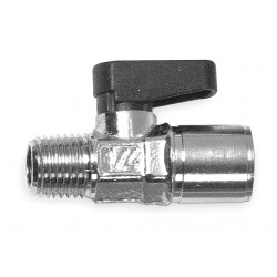 Alpha Fittings - 86310-08-08 - Nickel-Plated Brass FNPT x MNPT Mini Ball Valve, Wedge, 1/2 Pipe Size