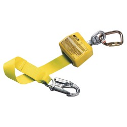 Honeywell - 8327/8FTYL - Miller by Honeywell 8' Nylon Web Retracting Lanyard With (1) 3/4 Locking Snap Hook, 1 Carabiner And Shackle, ( Each )