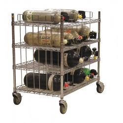 Groves - MBR-16 - Mobile Bottle Cart, Maximum 16 Bottles