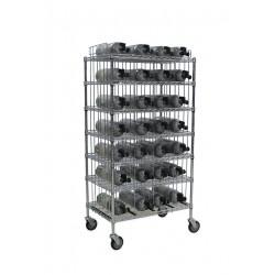 Groves - MBR-28 - Mobile Bottle Cart, Maximum 28 Bottles