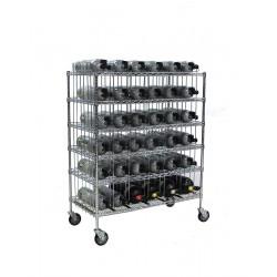 Groves - MBR-36 - Mobile Bottle Cart, Maximum 36 Bottles