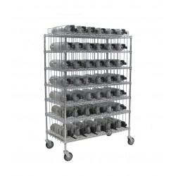Groves - MBR-42 - Mobile Bottle Cart, Maximum 42 Bottles
