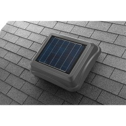 Broan-NuTone - 345SOWW - Broan 345SOWW Solar Powered Attic Ventilator, Weather Wood
