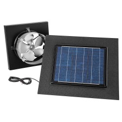 Broan-NuTone - 345GOBK - Broan 345GOBK Gable Mount Solar Powered Attic Ventilator