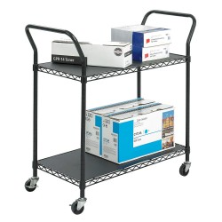 Other - 5337BL - 19-1/4L x 43-3/4W x 40-1/2 Steel Wire Utility Cart, 400 lb. Load Capacity