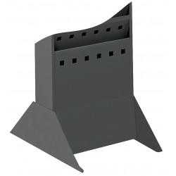 Safco - 4323BL - Safco Rack Base - 10 Width x 14 Depth x 5.3 Height - Steel - Black