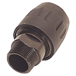 Parker Hannifin - 6605 40 43GR - Brass Transair Male Threaded Connector, Black