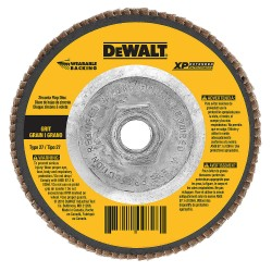 "Dewalt - DW8337 - 4-1/2"" X 5/8""-11 24g Type 29 Hp Flap Disc"