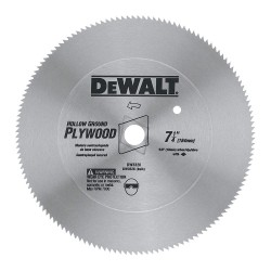 "Dewalt - DW3526 - 7-1/4"" Steel Ply Wood Circular Saw Blade, Number of Teeth: 140, Package Quantity 25"