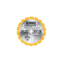 Dewalt - DW3592B10 - 7-1/4 Carbide Combination Circular Saw Blade, Number of Teeth: 18, Package Quantity 10