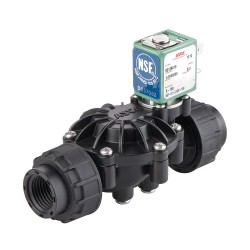 Asco - 8212A019S0100F0 - Asco 8212A019S0100F0 Solenoid Valve, NSF, NC; 1/2 NPT(F), 3/4 Orifice; PPE Body, EPDM Seal; 120VDC