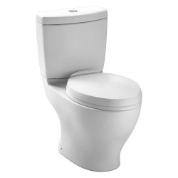 Toto - CST412MF#11 - Aquia Two Piece Tank Toilet, 1.6/0.9 Gallons per Flush, Colonial White