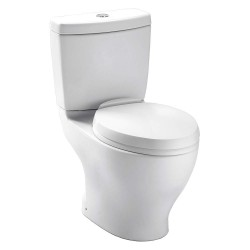 Toto - CST412MF.10#01 - Aquia Two Piece Tank Toilet, 1.6/0.9 Gallons per Flush, Cotton