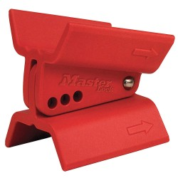 Master Lock - S3920 - Butterfly Valve Lockout, Red, Fits Handle Size: Universal, Thermoplastic