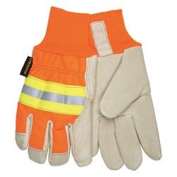 Memphis Glove - 3440L - Pigskin Leather Driver's Gloves with Knit Wrist Cuff, Beige, L