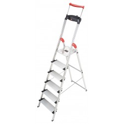 Hailo - 8030-628 - Aluminum Platform Stepladder, 6 ft. 1 Ladder Height, 4 ft. Platform Height, 330 lb.
