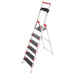 Hailo - 8010-628 - Aluminum Platform Stepladder, 6 ft. 1 Ladder Height, 4 ft. Platform Height, 330 lb.