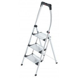 Hailo - 4303-301 - Aluminum Folding Step, 56 Overall Height, 330 lb. Load Capacity, Number of Steps: 3