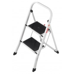 Hailo - 4396-911 - Steel Folding Step, 32 Overall Height, 330 lb. Load Capacity, Number of Steps: 2