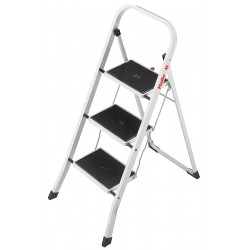 Hailo - 4397-921 - Steel Folding Step, 42 Overall Height, 330 lb. Load Capacity, Number of Steps: 3