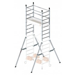 Hailo - 9902-101 - Scaffold Add-On, Aluminum, 9 ft. Platform Height, 7 ft. Overall Height, 700 lb. Load Capacity